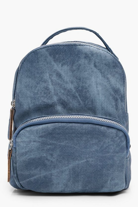 Girls Denim Look Backpack