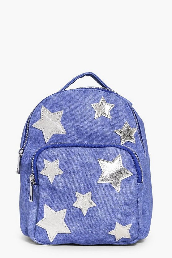 Girls Star Applique Backpack