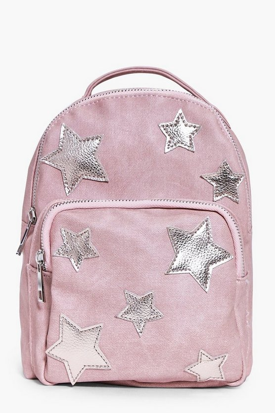 Girls Star Applique Back Pack