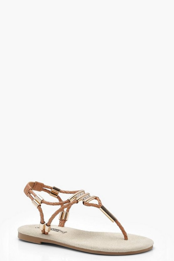 Girls Rope Detail Flat Sandal