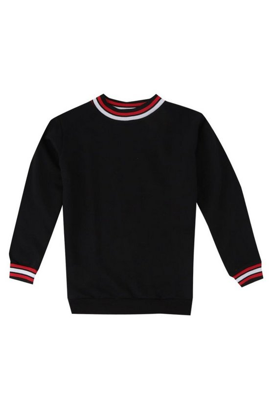 Boys Ribbed Contrast Sweater