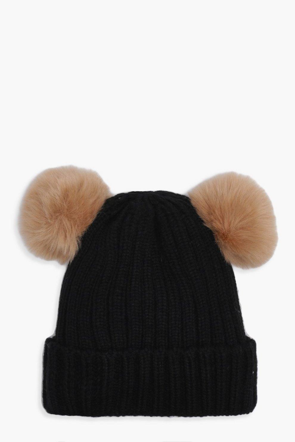 innovatives Design Turnschuhe für billige das billigste Mädchen, Mütze mit zwei Bommeln   Boohoo