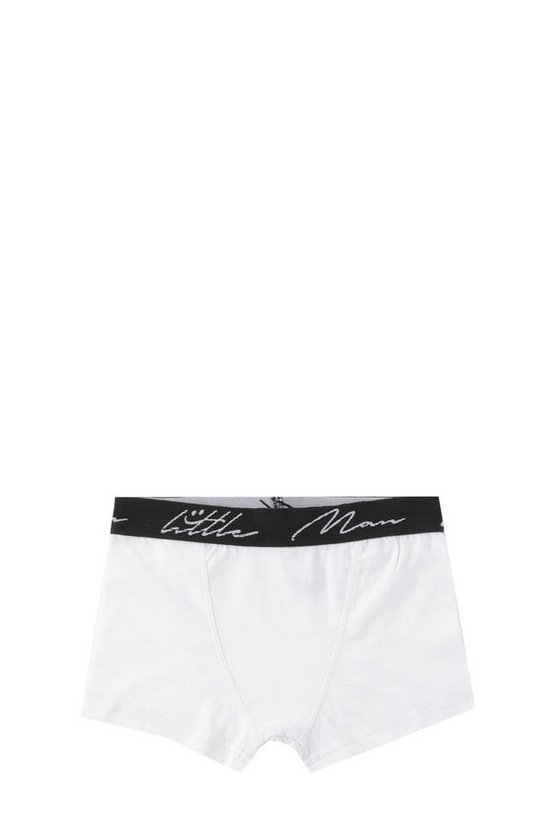 Boys Little Man Waistband 3 Pack Boxers