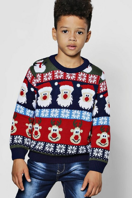 Boys Christmas Repeat Jumper