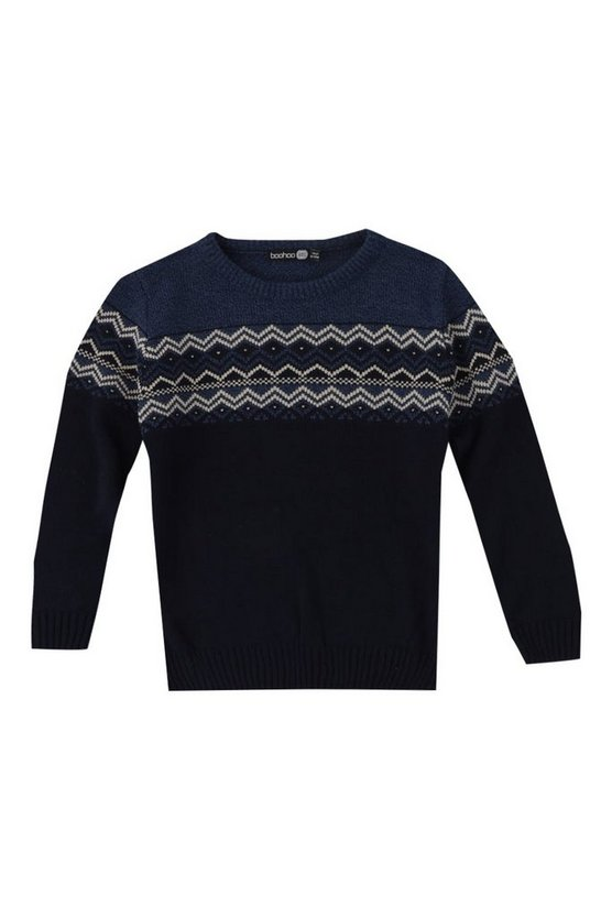 Boys Fairisle Yoke Jumper