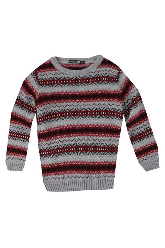 Boys All Over Fairisle Jumper