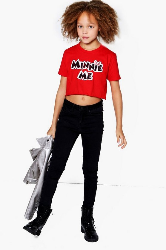 Girls Minnie Me Cropped Tee