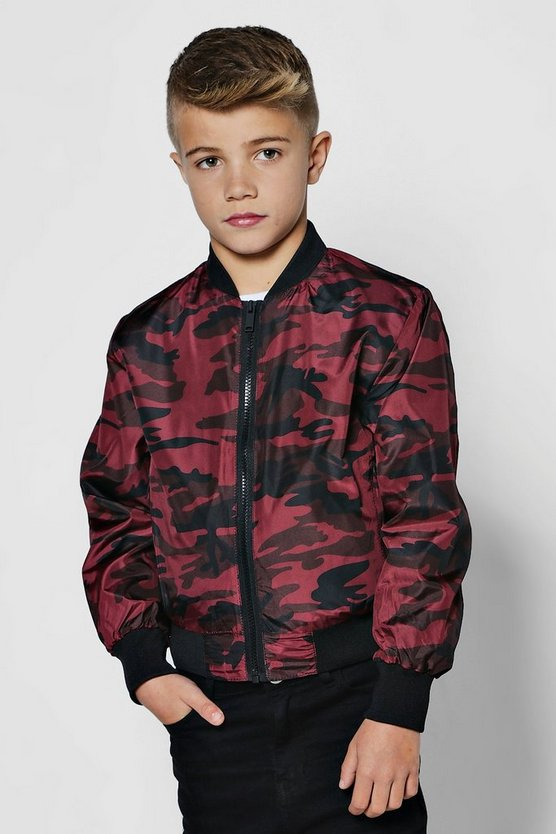 Boys Red Camo Jacket
