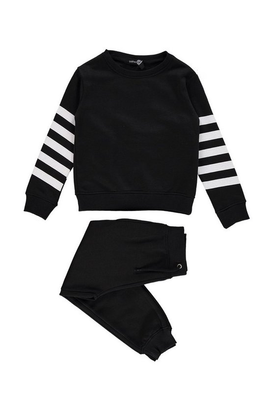 Boys Back Print Sweat And Jogger Set