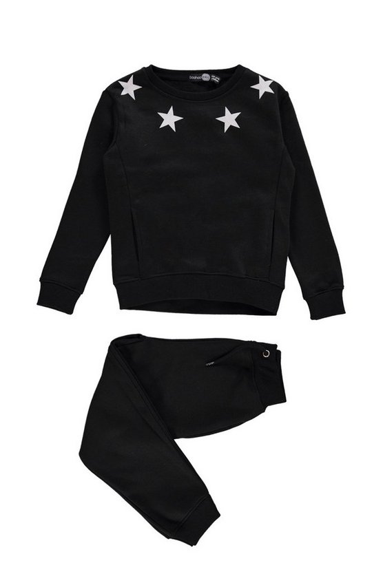 Boys Star Print Sweat And Jogger Set