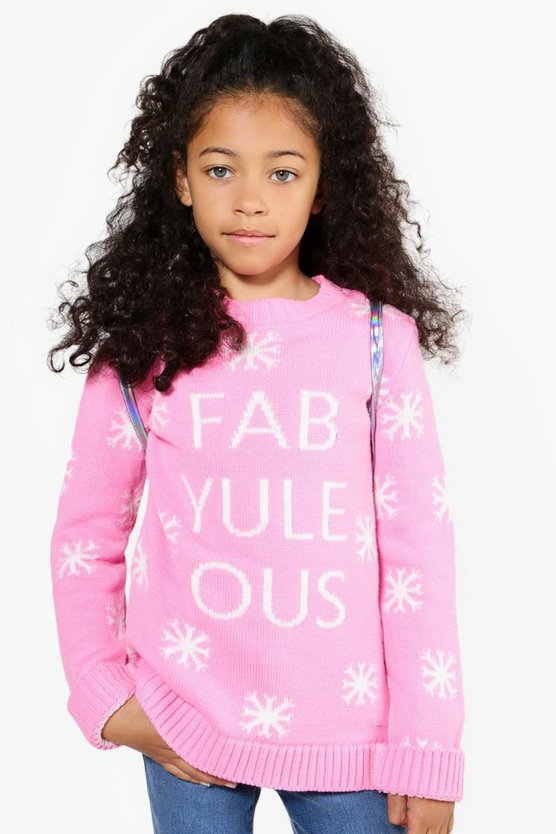 Girls Fabulous Knitted Jumper