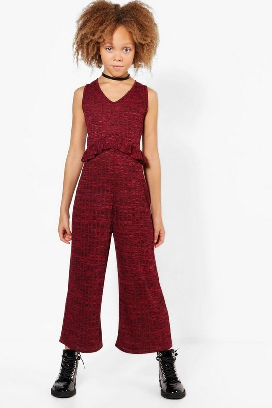 Girls Rib Front Jumpsuit