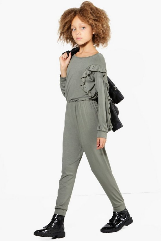 Girls Ruffle Front Jumpsuit