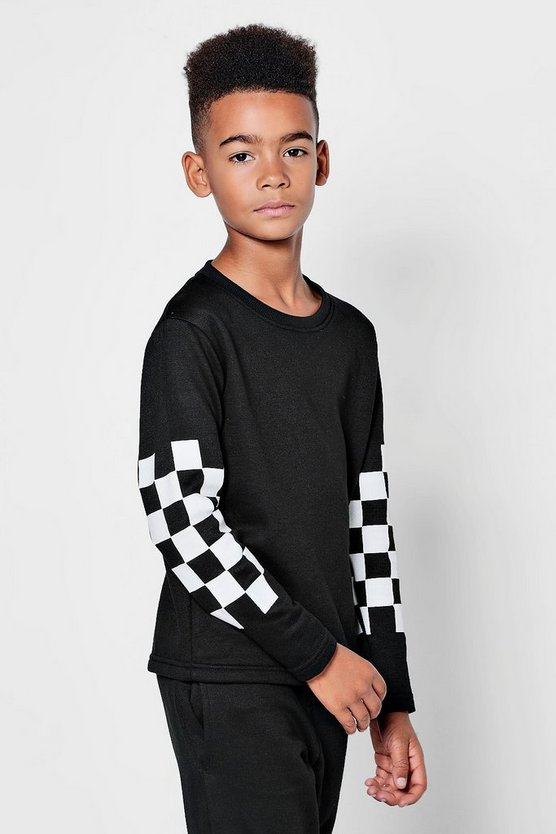 Boys Checkerboard Tracksuit