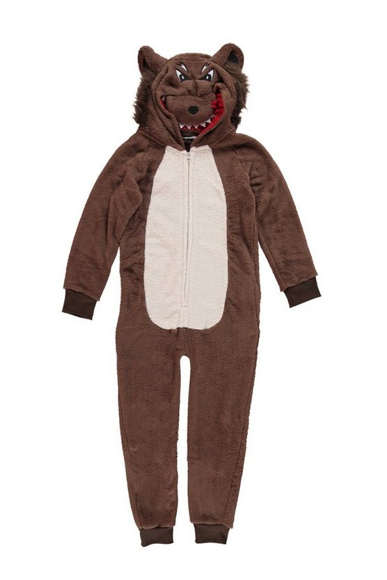 Boys Wolf Novelty Onesie