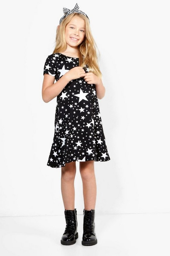Girls Star Skater Dress