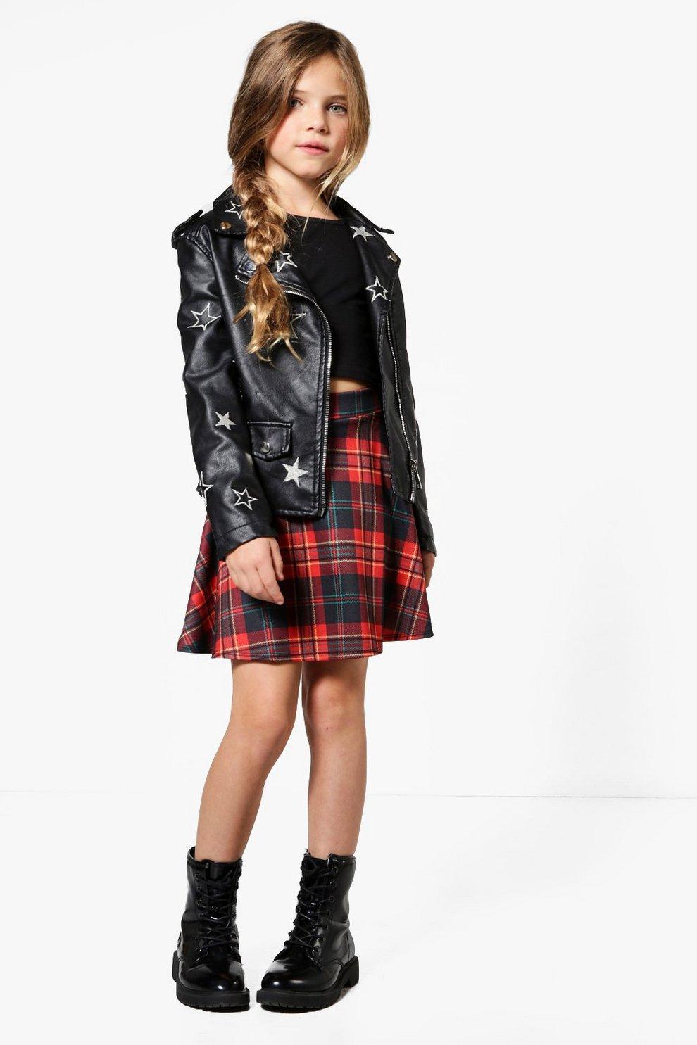 507c17db9 Girls Tartan Skater Skirt | Boohoo
