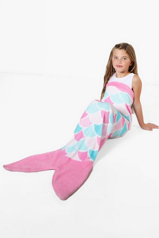 Girls Supersoft Mermaid Blanket