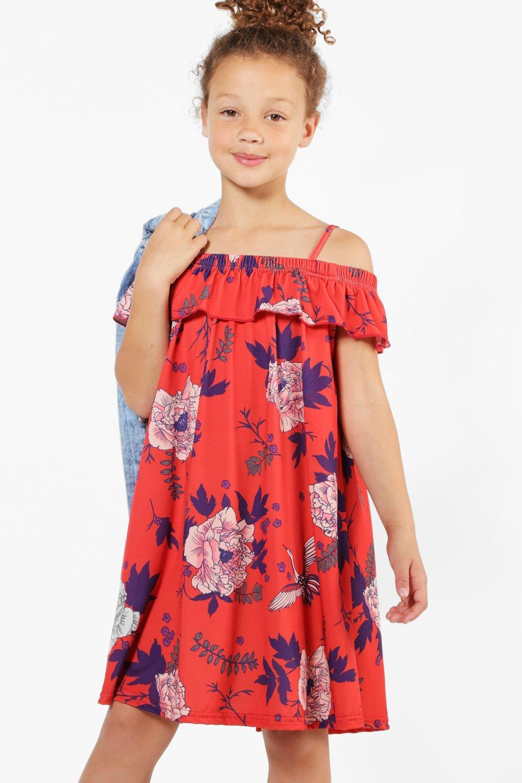 Kleid schulterfrei madchen