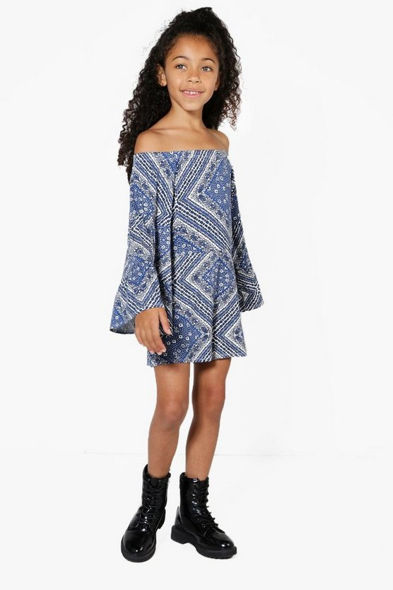 Girls Bardot Tiered Playsuit
