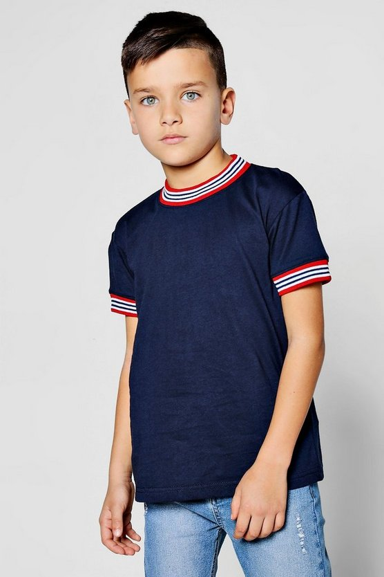 Boys Rib Neck And Cuff Tee