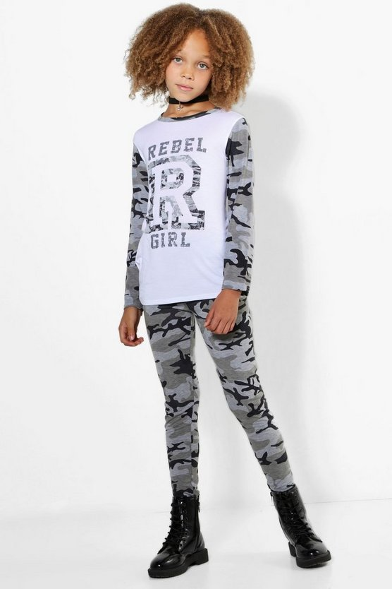 "Conjunto de leggings ""rebel girl"" para niña"