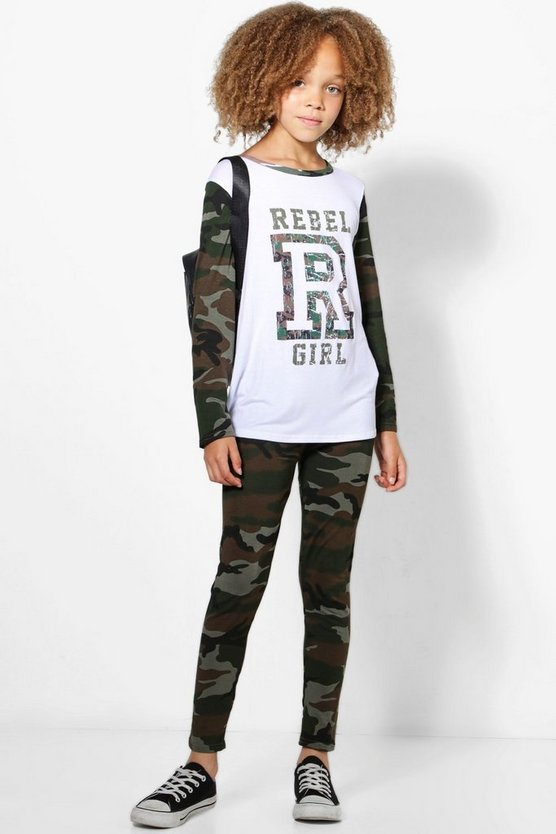 Girls Rebel Girl Legging Set