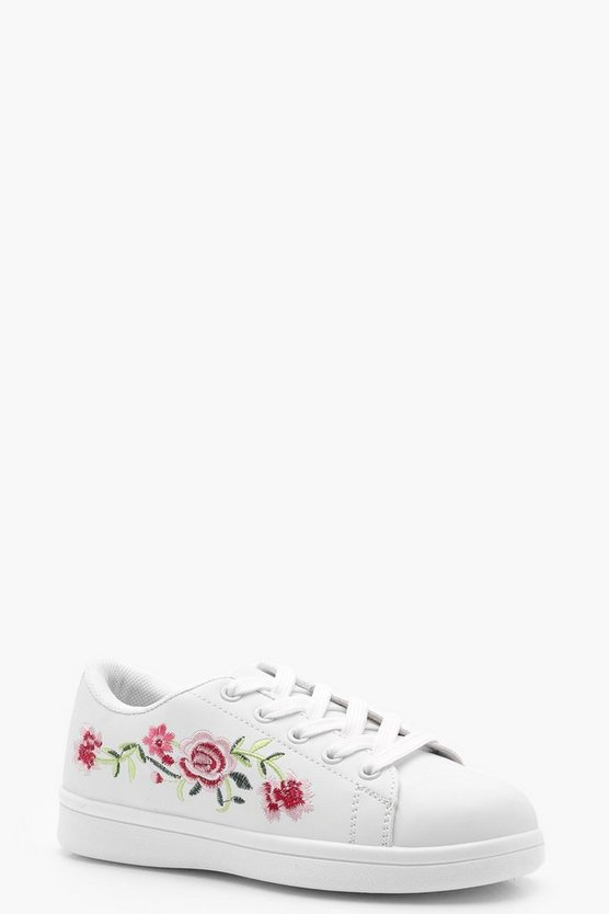 Girls Embroidered Trainer