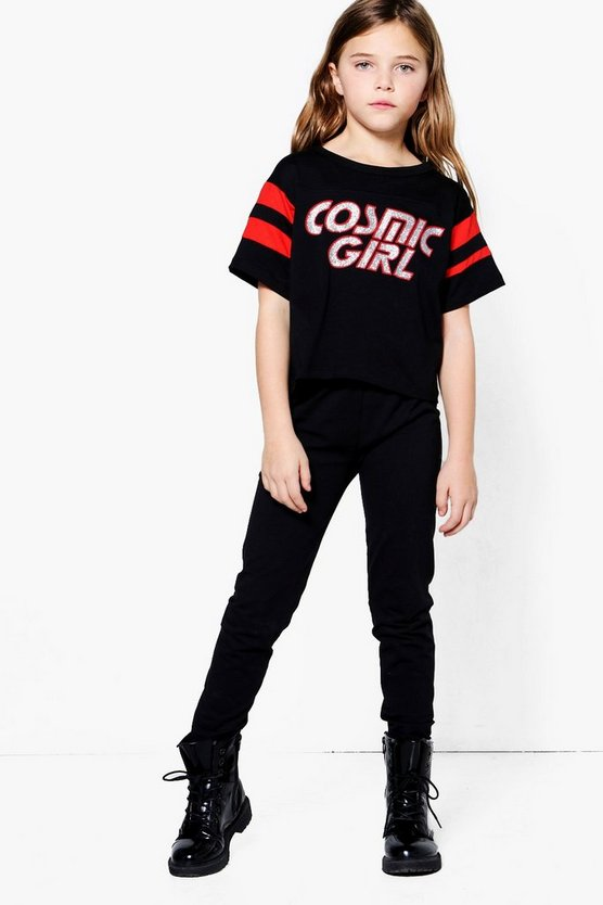 Girls Cosmic Girls Crop Top & Legging Set