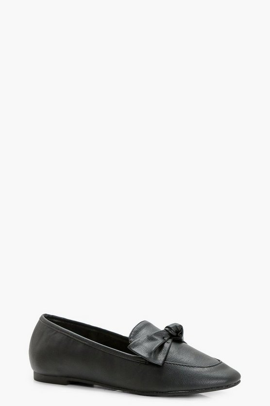 Girls Bow Trim Loafer