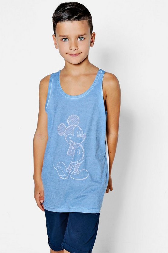 Boys Disney Drawn Mickey Print Vest