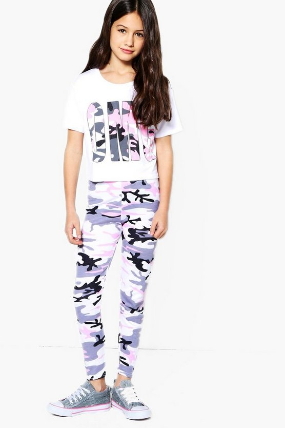 Girls OMG Camo Sports Set