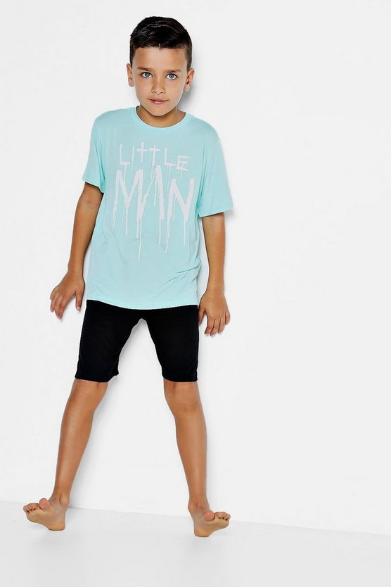 Boys Little Man Tee Set