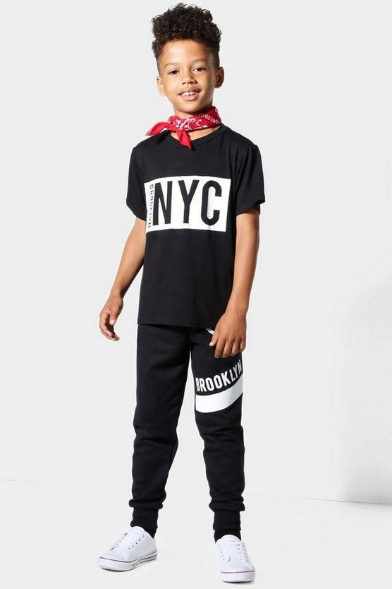 Boys NYC Brooklyn T-shirt & Jogger Set