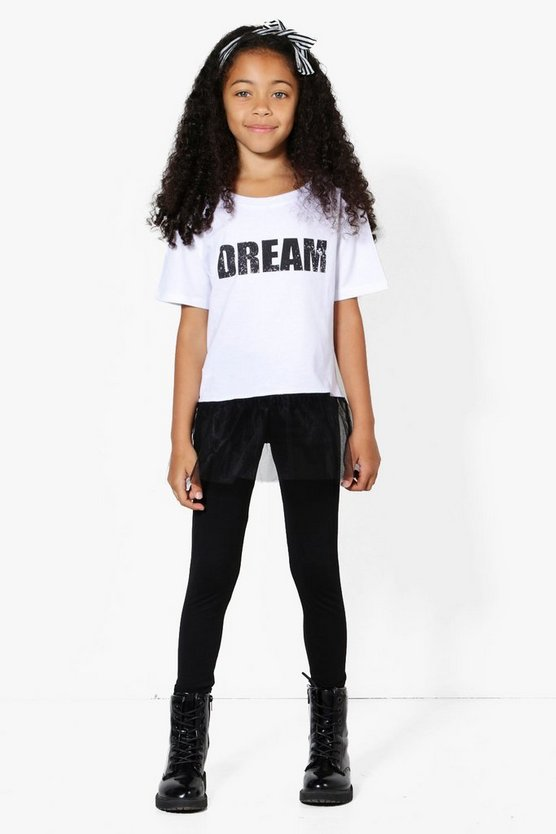 Girls Dream Mesh Tee & Legging Set