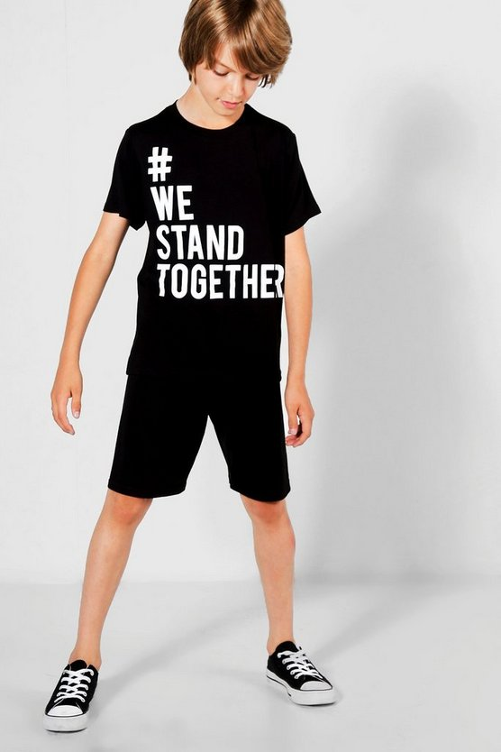 Charity Boys We Stand Togther Tee & Short Set