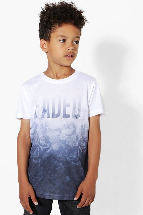Boys Floral Faded Tee