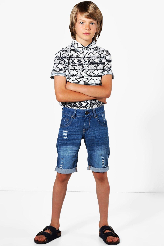 89f649f17 Mens Blue Boys Denim Shorts. Hover to zoom