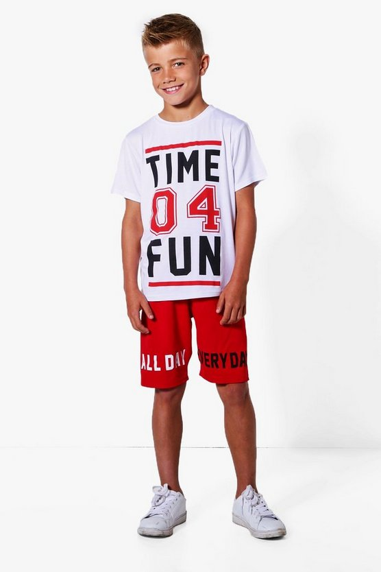 Boys Time 04 Fun Tee & Short Set