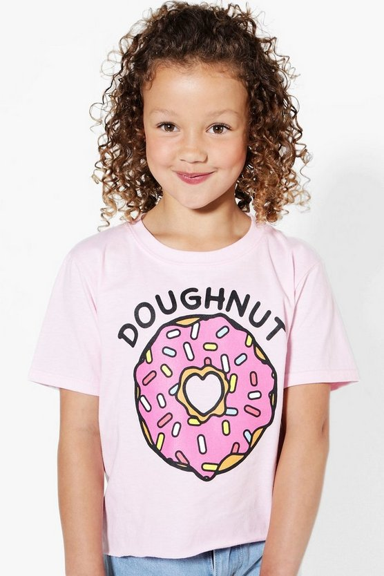 Girls Doughnut Cropped Tee