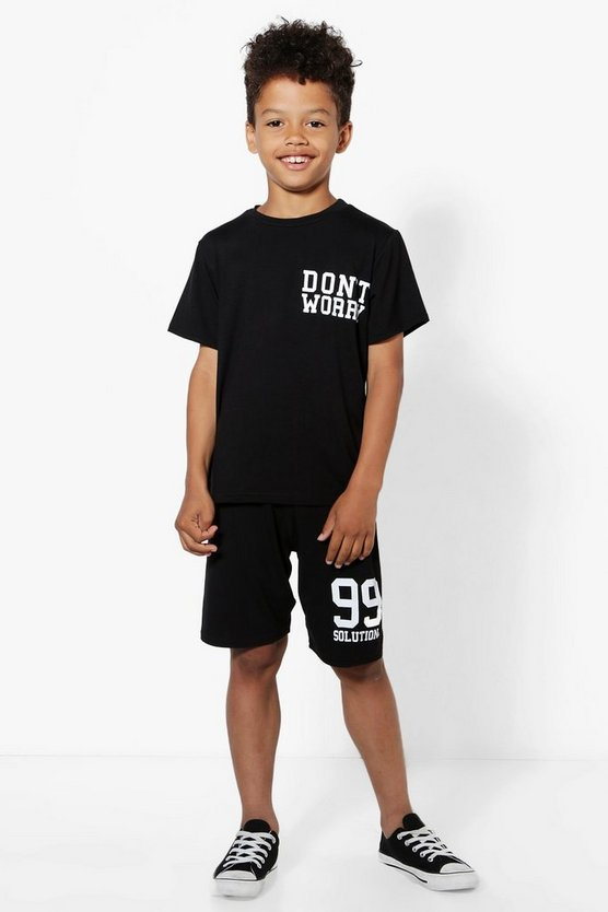 Boys Don't Worry T-Shirt and Shorts Set