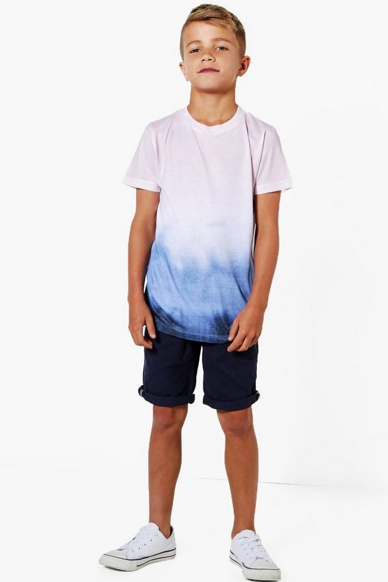 Boys Tie Dye Faded Tee