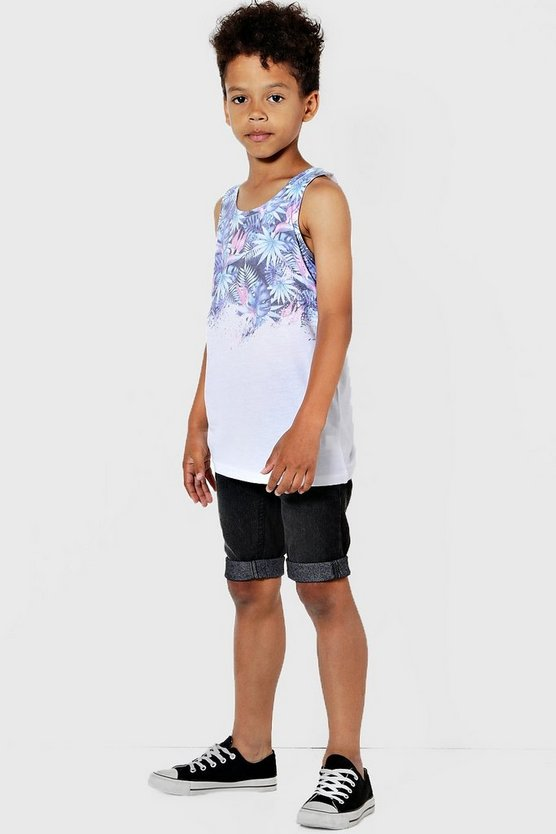 Boys Tropical Palm Print Sublimation Vest