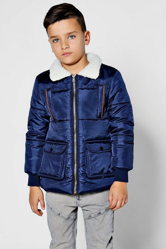 Boys Padded Flying Jacket