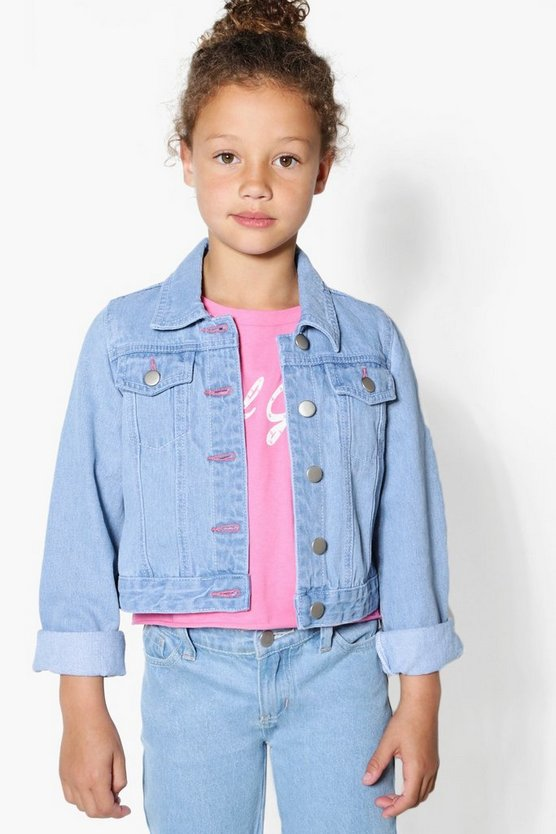 Girls Light Blue Denim Jacket