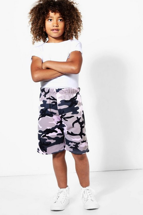 Boys Camo Loopback Shorts