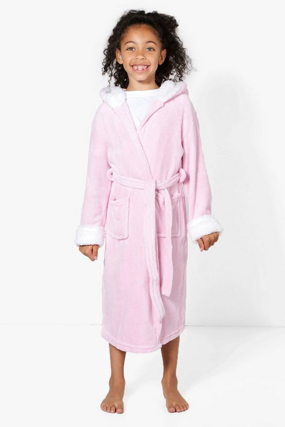 Girls Supersoft Unicorn Fleece Robe