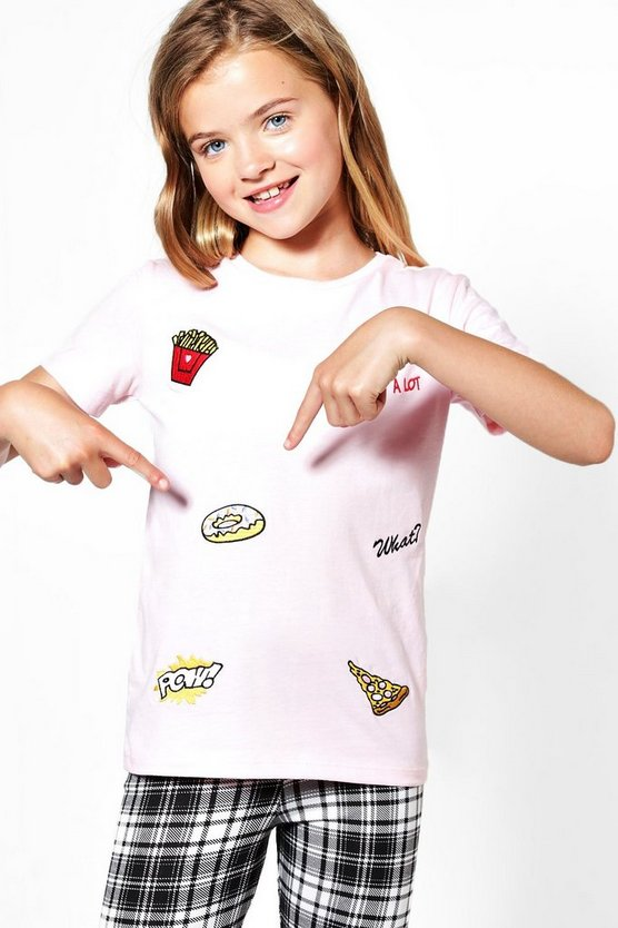 Girls All Over Badge Embroidered Tee