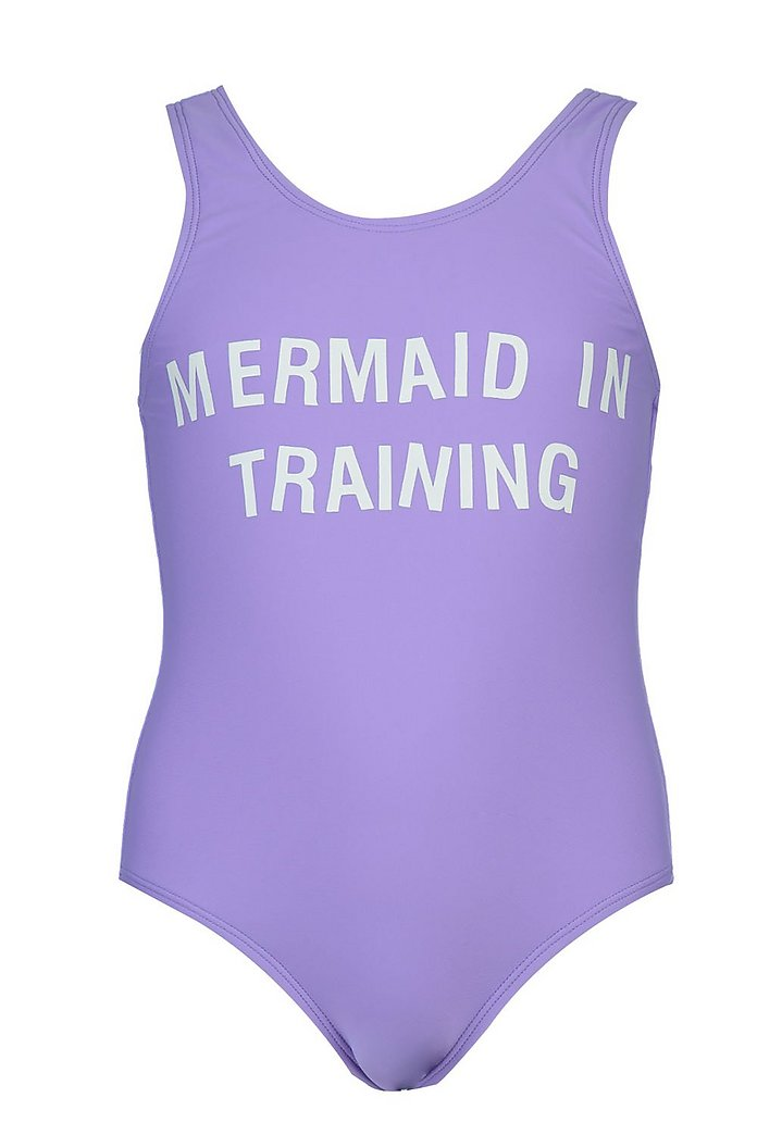 Mermaid in Training Girls Baby Grow Vest Bodysuit