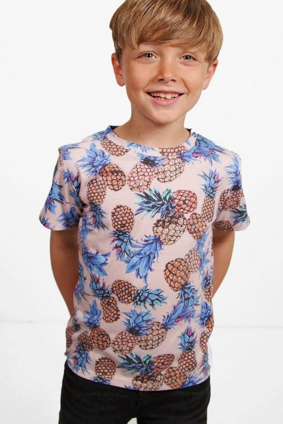 Boys Pineapple Printed Tee
